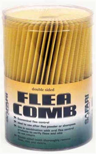 Plastic Flea Comb - Safari Plastic Flea Comb  Jar (100 double-sided combs in a jar)