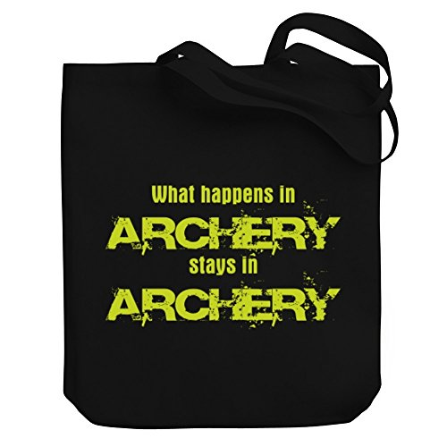 Archery Tote STAYS IN Bag WHAT IN Teeburon Canvas HAPPENS Archery wOxU6gpSq