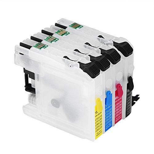 Richer-R Cartucho de Tinta Vacío Recargable Ensamblados Universal Compatible con Microprocesador de Restablecimiento...