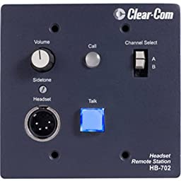 Clear-Com HB-702 Encore 2-Channel Flush-Mount Headset Station