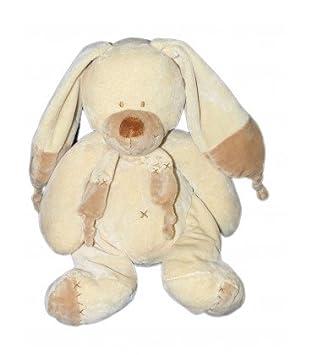 Doudou Peluche Lapin chien beige crème marron Bastien Echarpe Croix Kiabi  Nicotoy 38 cm M7613 N5797113 7946a96f149