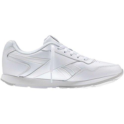 Reebok Royal Glide, Chaussures de Sport Femme Blanc Cassé - Blanco  (White / Steel / Reebok Royal)