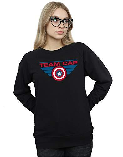 Mujer Captain Team De Negro America Marvel Civil Cap Camisa War Entrenamiento B65qUx