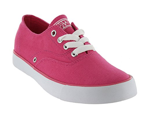 Gotta Flurt Rippy Women's Canvas Sneaker Shoes Hot Pink 7 M (Pink Sneaker Canvas)