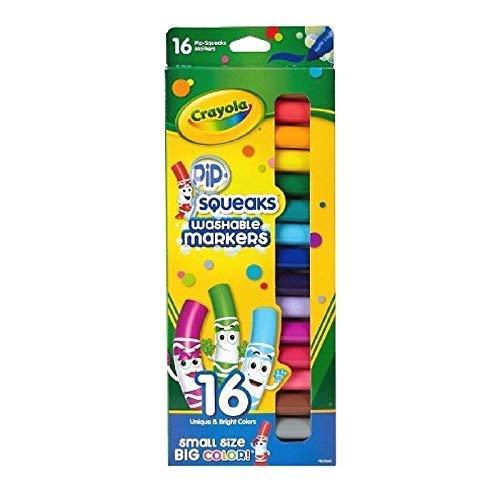 Rotuladores lavables Crayola Pip-Squeaks, 16 unidades (paquete de 3)