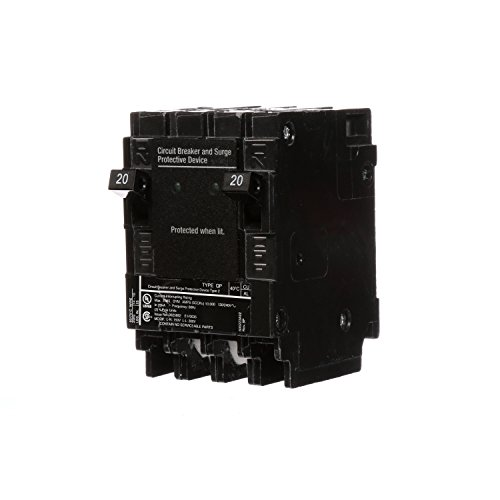 Siemens 20 Amp Circuit Breaker - Siemens QSA2020SPD Whole House Surge Protection with Two 20-Amp Circuit Breakers for Use Only on Siemens Panels