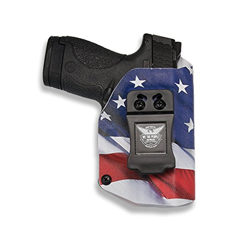rs - Taurus Millenium PT111 G2 / G2C 9MM Compatible IWB Kydex Holster for Concealed Carry (Right Hand, American Flag) ()