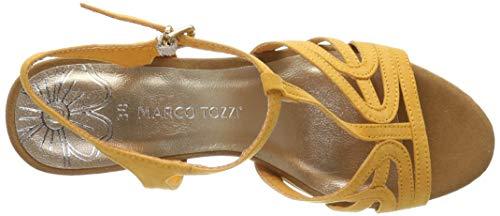 Tozzi Con 2 Plataforma 28332 2 Marco 22 Para Comb Mujer Plana 636 mango Sandalias Naranja q0w1Ydx4