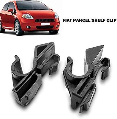 Paquete Estante Clip Sujetador pl/ástico Trasero F/ácil instalar Ajuste directo Accesorios para autom/óviles duraderos Reemplazo Par veh/ículos pr/áctico para Fiat Grande Punto