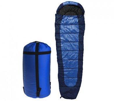サミットSleeping Bag – 350 GSM Double Layer – ダークブルー/ダークグリーン/パープル B06X9WTHL2  ブルー