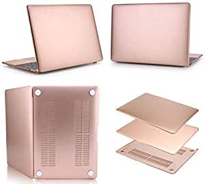 Kuzy Rose Gold Full Safety Rubberized Hard Shell Case Cover Skin For Apple Macbook Retina 12 Inch