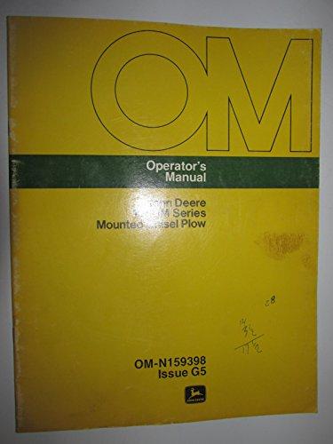 John Deere 1600M Series Mounted Chisel Plow Operators Owners Manual Original OM-N159398