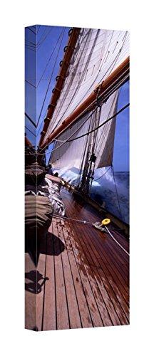 Easy Art Prints Panoramic Images's 'Sailboat in the sea, Antigua, Antigua Barbuda' Premium Canvas Art - 40