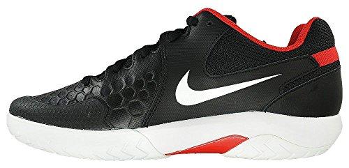 Nike Mens Air Zoom Motståndet Tennisskor Svart / Vit / Universitet Red
