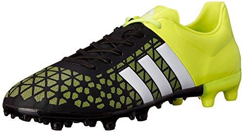 adidas Ace 15.3FG/AG de fútbol del hombre cornamusa Core Black/White/Solar Yellow