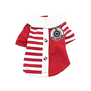 Gold Wing 1 Piece of Pet Dog Navy Cosume Puppy Clothes Shirt, Red