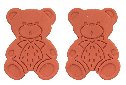 Brown Sugar Bear Original Brown Sugar Saver and Softener, Terracotta, Set of 2