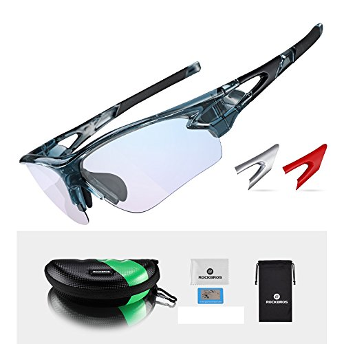 4eff38b0298 ROCKBROS Photochromic Cycling glasses Mens Outdoor Sports Sunglasses UV400  suit for day and night  Amazon.co.uk  Sports   Outdoors