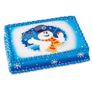 Frosty the Snowman Edible Image Cake Topper ()