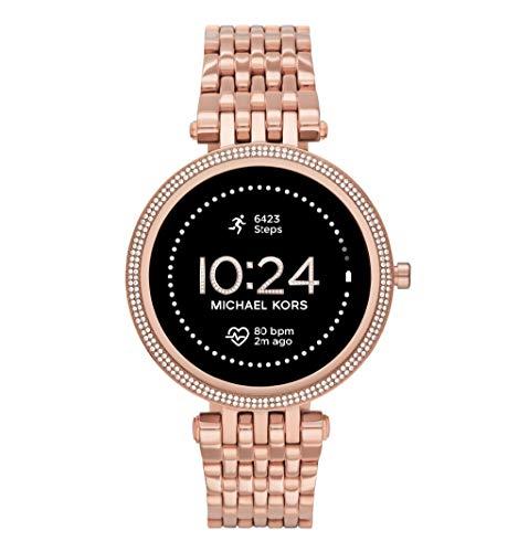 Michael Kors Dames Gen 5E Darci touchscreen smartwatch met luidspreker, hartslag, GPS, NFC en smartphone-meldingen