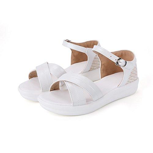 AdeeSu Womens Solid Oversized Travel Urethane Sandals SLC03935 White Qbd4Ri2