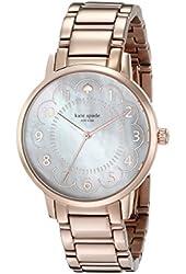 kate spade new york Women's 1YRU0791 Gramercy Rose Gold-Tone Watch with Link Bracelet