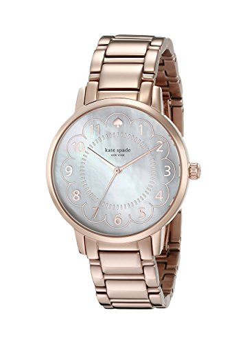 kate spade new york Women's 1YRU0791 Gramercy Rose Gold-Tone Watch with Link Bracelet