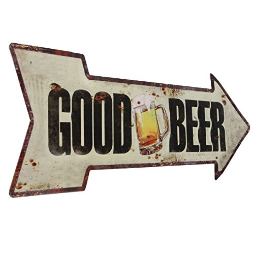 Lily's Home Retro Vintage Inspired Metal Man Cave Bar Beer Sign