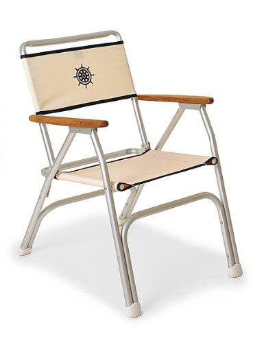 Amazon.com : FORMA MARINE Deck Chair, Boat Chair, Folding, Anodized,  Aluminium, Off White, Model M100W : Sports U0026 Outdoors