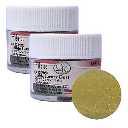 Edible Luster Dust Shiny Gold - 2 Pack ()