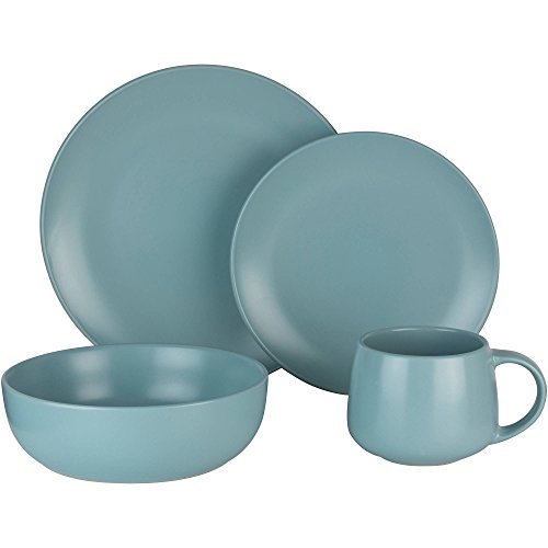 16-Piece Dinnerware Set, Mineral Blue Review