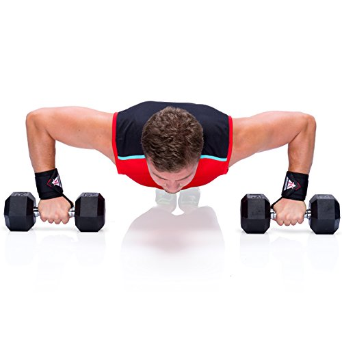 "Quality Gym Weight Lifting Strap Heavy Duty Wrist: Bykottos Premium 18.5"" Weight Lifting Wrist Wraps + Zipper"