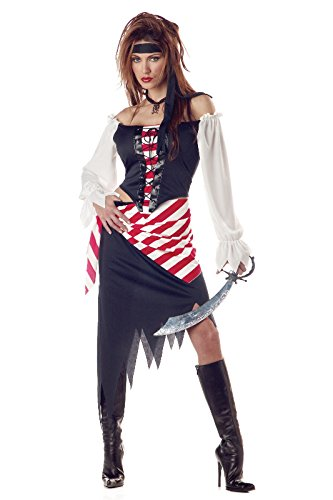 [California Costumes Women's Ruby, The Pirate Beauty Costume, Black/Red/White, X-Large (12-14)] (Ladies Pirates Costumes)
