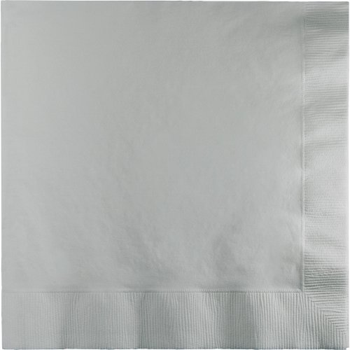 Touch of Color 3-Ply Paper Lunch Napkins, Shimmering Silver, 50-Count by Creative Converting