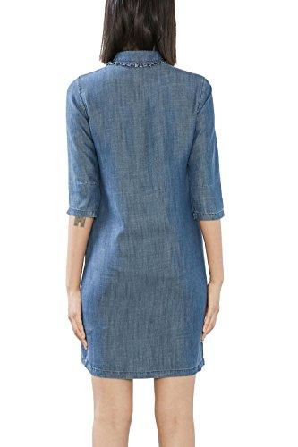 ESPRIT 017ee1e003, Vestido para Mujer Azul (Grey Blue)