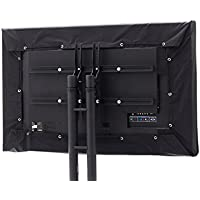 CoverMates – Outdoor TV Half Cover – Fits 55 to 59 Flat TVs – 2 Year Warranty- Black