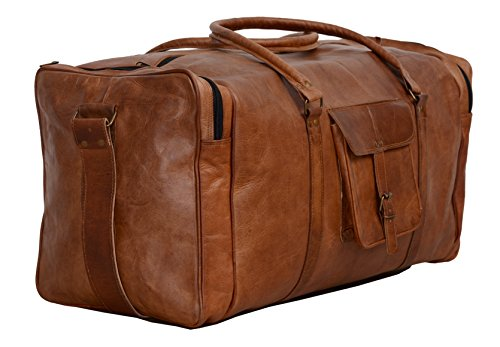 Kpl 28 Inch Large Leather Duffel Travel Duffle Gym Sports