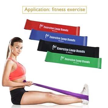 Fastar Juego de 4 bandas de resistencia para ejercicio ...