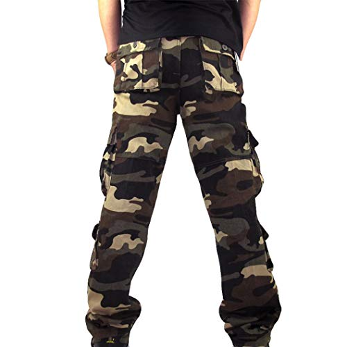Dacawin Multi-Pockets Casual Cargo Pants Men Camouflage Fit Outdoors Work Beach Trousers by Dacawin (Image #3)
