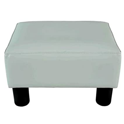 Groovy Amazon Com Oversized Square Ottoman Coffee Table White Short Links Chair Design For Home Short Linksinfo