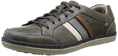Skechers Sorino Duarte, Zapatillas de Deporte para Hombre Gris (Char)