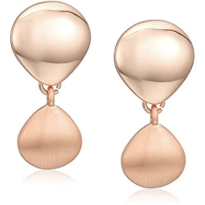 Nice Kenneth Cole New York Supercharged Collection Women's Shiny and Matte Rose Gold Drop Earrings supplier