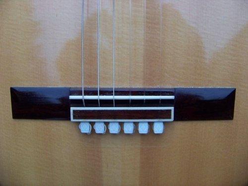 Diamond BridgeBeads for Classical Guitar & Nylon String Guitar - Ivory StringTies ()
