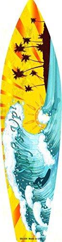Smart Blonde Surf Up Metal Novelty Surf Board Sign SB-030 ()