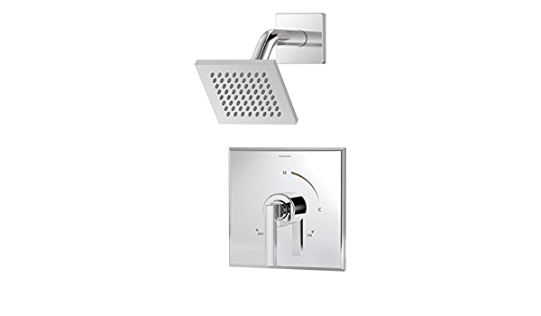 Symmons 3601 Sh4 Trm Duro 1 Handle Shower Trim Kit With Square Showerhead In Chrome Valve Not Included Amazon Com