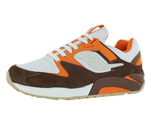 Saucony Grid 9000 Men´s Running Shoes Size US 13, Regular Width, Color White/Brown/Orange (Size 13 Mens Saucony)