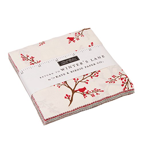 (Return to Winter's Lane Charm Pack by Kate & Birdie; 42-5 inch Precut Fabric Quilt Squares)