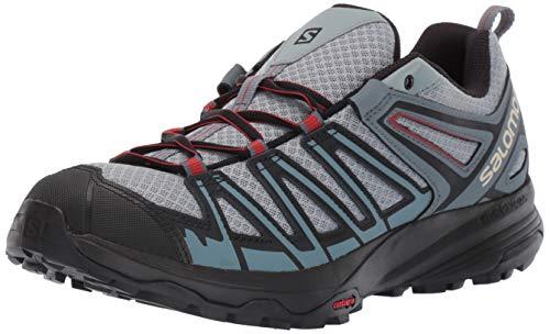 Salomon Men's X Crest Hiking Shoe, Lead/Stormy Weather/Bossa Nova, 10 M US