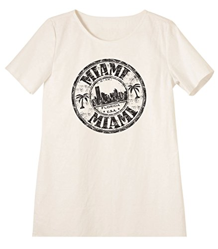 Miami - Florida Printed Linen Short Sleeves Vintage Mini Shift Dress WDS_06 18