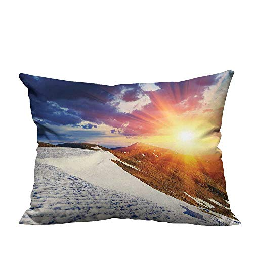 YouXianHome Print Bed Pillowcases Clouds Nature Mounta Valley Girls Divider College Acc Sori L Scape Washable and Hypoallergenic(Double-Sided Printing) 21.5x21.5 inch